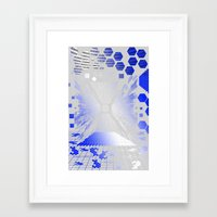 Digitize (White Background) Framed Art Print