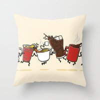 Hot N' Cold Throw Pillow