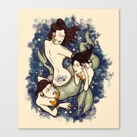 Mermaid Tattoo Canvas Print