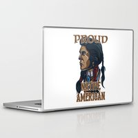 native american Laptop & iPad Skins featuring Proud Native American by Spooky Dooky