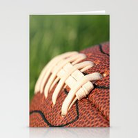 Football Leather & Stitc… Stationery Cards