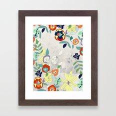 Saturday Florals Framed Art Print