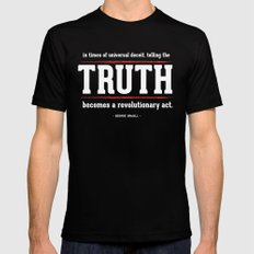 Telling the Truth is a Revolutionary Act Mens Fitted Tee Black SMALL