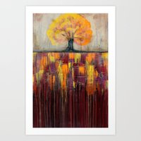 Tree In Autumn Landscape… Art Print