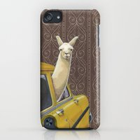iPhone Cases featuring Taxi Llama by Jason Ratliff