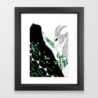 Capricorn / 12 Signs Of … Framed Art Print