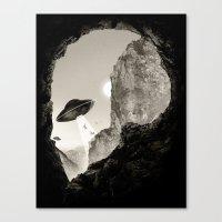 Alien´s Head Canvas Print