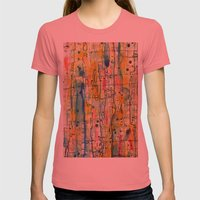 Vibratoire Womens Fitted Tee Pomegranate SMALL