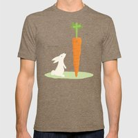 Funny Bunny Mens Fitted Tee Tri-Coffee SMALL