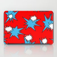 Stars (Blue & White on Red) iPad Case