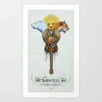 WE GOVERN WE // lionsandtigersandbears Art Print