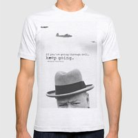 Churchill Mens Fitted Tee Ash Grey SMALL