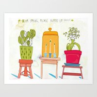 Dear Spring, please hurry up!!!!! Art Print
