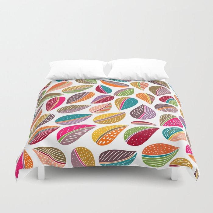 Leaf Colorful Duvet Cover By Shakkedbaram Society6