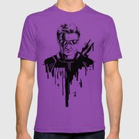Avengers In Ink: Hawkeye Mens Fitted Tee Ultraviolet SMALL