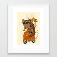 Packed and ready to go Framed Art Print