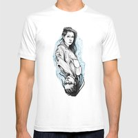 sarah and cosima Mens Fitted Tee White SMALL