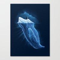 The Iceberg Penguin Canvas Print