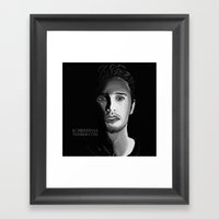 James Franco Framed Art Print