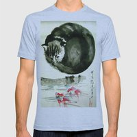 cunning cat Mens Fitted Tee Athletic Blue SMALL