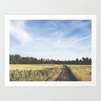 farm field Art Print