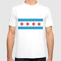 Chicago Flag Mens Fitted Tee White SMALL