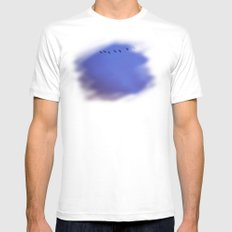 Blue Red Sky Mens Fitted Tee SMALL White