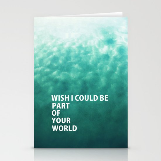Part of Your World Stationery Card