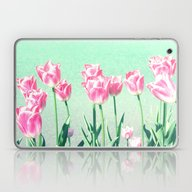 Pink Tulips Laptop & iPad Skin