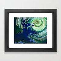 Rage Against Poseidon Framed Art Print