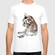 at rest Mens Fitted Tee SMALL White