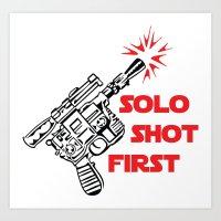 Han Shot First Art Print