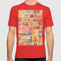 Places, Elsewhere Mens Fitted Tee Red SMALL