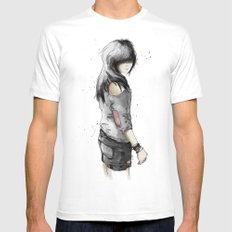 adik SMALL White Mens Fitted Tee