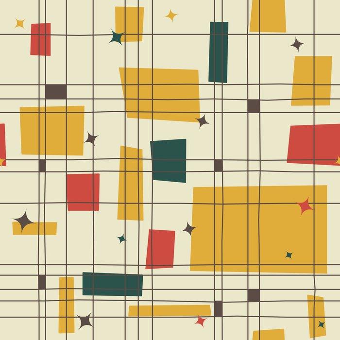 mid century modern art print by studio fibonacci society6. Black Bedroom Furniture Sets. Home Design Ideas