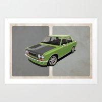 Datsun 510 - Green Art Print