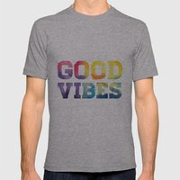 Good Vibes Mens Fitted Tee Athletic Grey SMALL