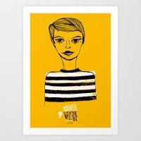 Jean Seberg  Art Print