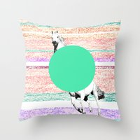 Horse, horse. Throw Pillow