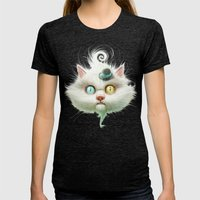 Release The Odd Kitty!!! Womens Fitted Tee Tri-Black SMALL