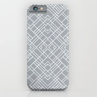 iPhone & iPod Case featuring Map Outline 45 Grey Repeat by Project M