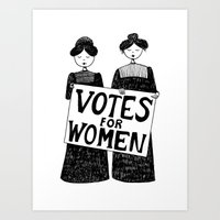 Votes For Women Art Print
