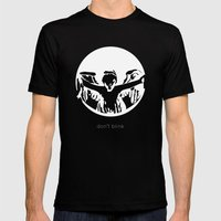 Don't blink Mens Fitted Tee Black SMALL