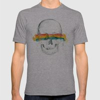 The Anonymity of Existence Mens Fitted Tee Athletic Grey SMALL