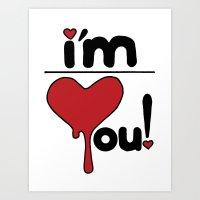 I'm Over You! Art Print