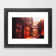 New York City Alley Framed Art Print