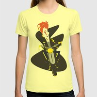 Easy rider Womens Fitted Tee Lemon SMALL