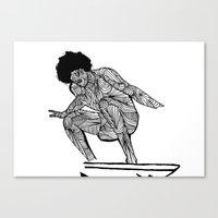 70s surfer Canvas Print