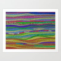 Stripes Along Art Print
