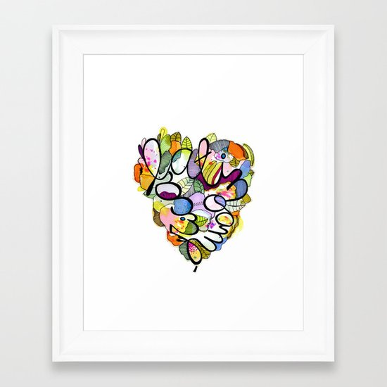 Latinoamérica LOVE Framed Art Print